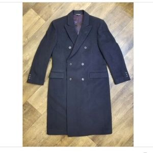Di Silver Wool Cashmere Over Coat Full Length
